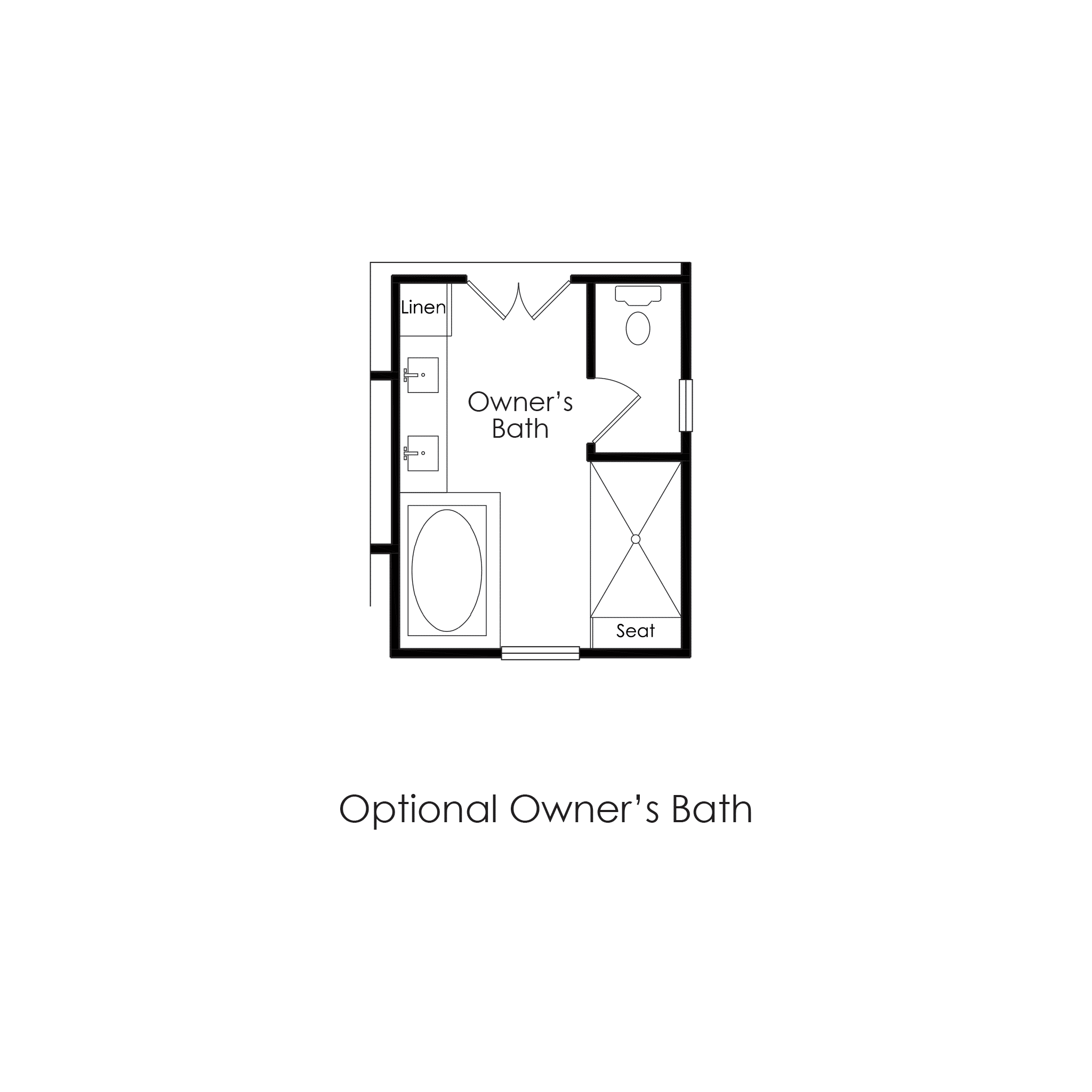 Second Floor – Optional Owners Bathroom