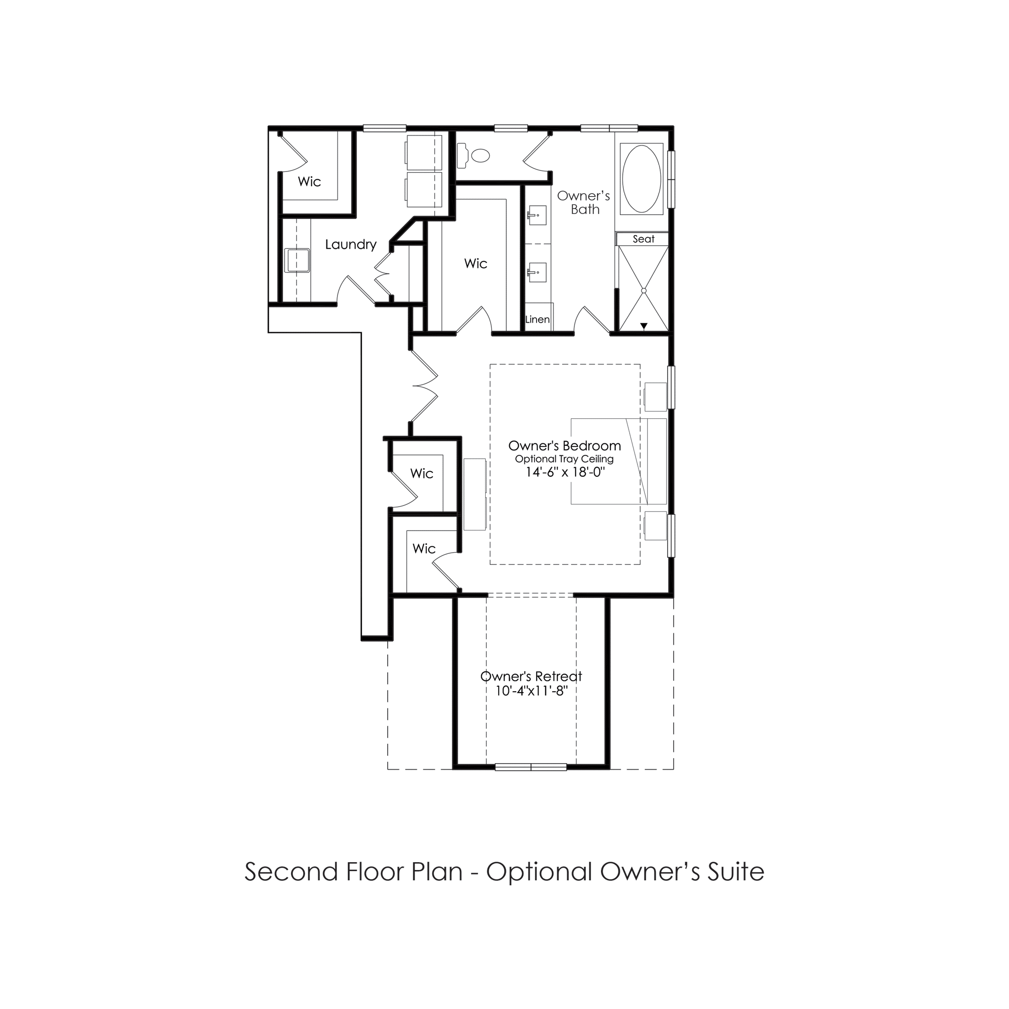 Second Floor – Optional Owners Suite