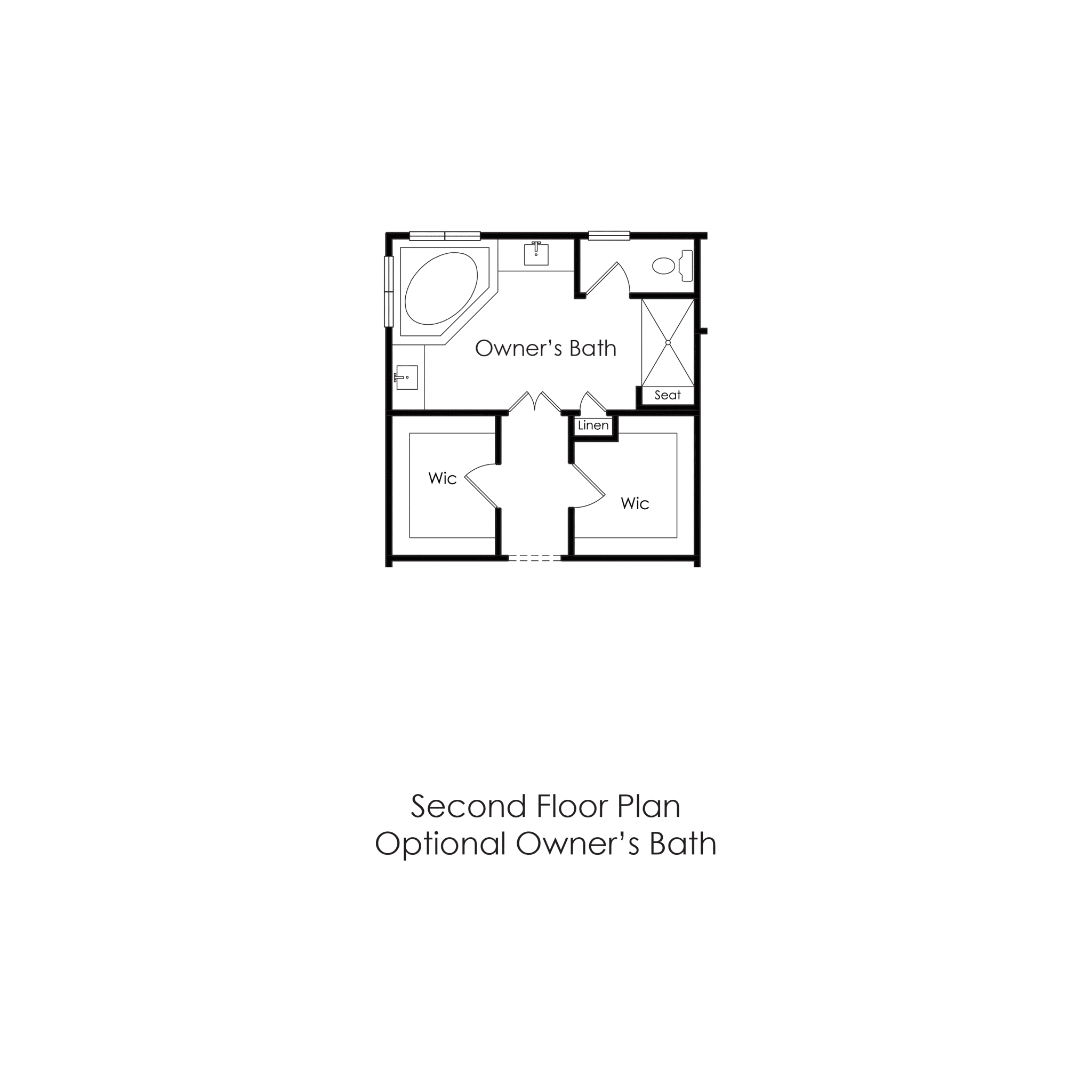 Second Floor – Optional Owners Bath