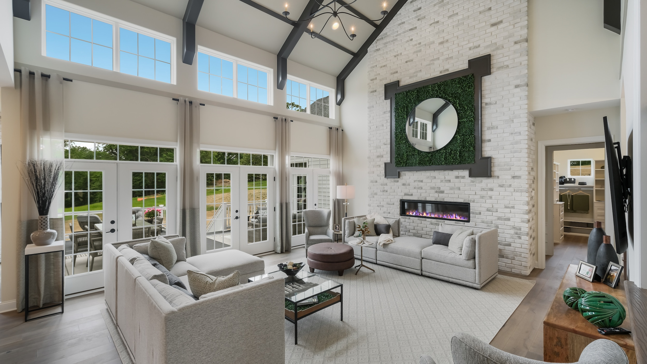 family room at the Squire's Ridge model home